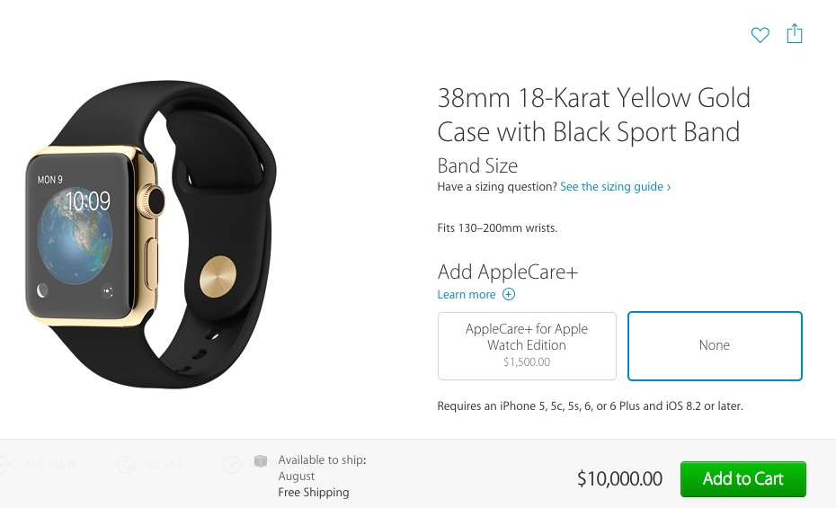 Apple Watch Edition Pre-Order August